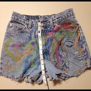 VTG Levi's 912 Slim Fit Denim Jeans Shorts Lady's